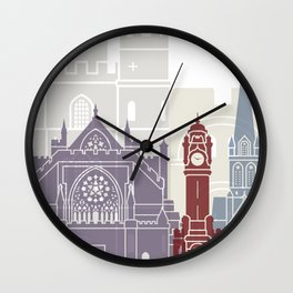 Exeter skyline poster Wall Clock