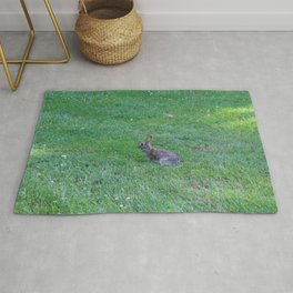 Bunny in the Grass Rug