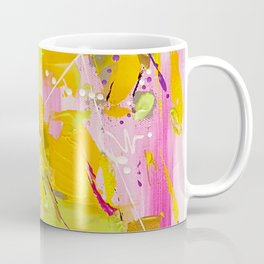 Fairy Land - Pink Green and Orange Abstrat Painting Coffee Mug