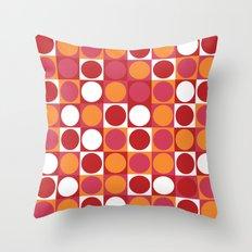 Retro Circle Throw Pillow