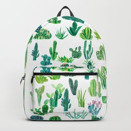 cacti collection watercolor  Backpack