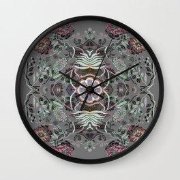 Boujee Boho Magical Floral Mandala Wall Clock