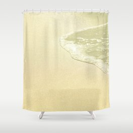 beach sparkling golden sand Shower Curtain