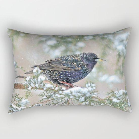 Mardi Gras Starling Rectangular Pillow