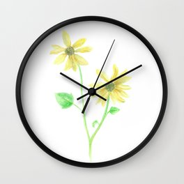 Simple Sunflower Wall Clock