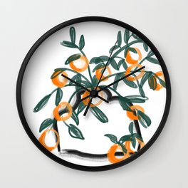 Oranges in Vase No 08 Wall Clock