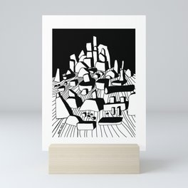On the rocks Mini Art Print