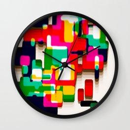 Arcade Crayon Collage Wall Clock