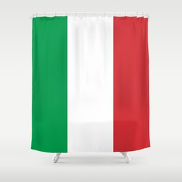 Flag of Italy, High Quality Image Shower Curtain