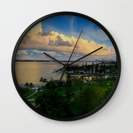 Panorama of The Gold Coast Wall Clock