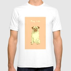 Pug Life Mens Fitted Tee SMALL White
