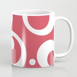 Circles Dots Bubbles :: Berry Blush Coffee Mug