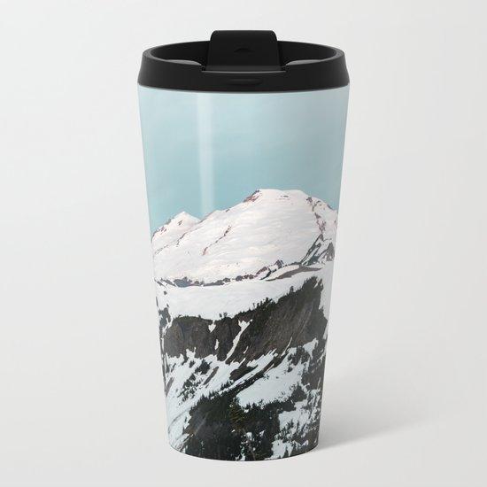 Turquoise Sky Mt. Baker Metal Travel Mug