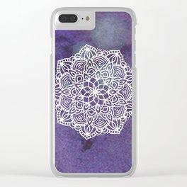 Ultraviolet Mandala #buyart #ultraviolet #mandala #society6 Clear iPhone Case