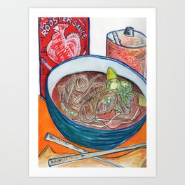 Ode To Pho Art Print