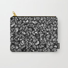 Two Tone Wobble Tiles Pattern Carry-All Pouch
