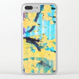Softly peeling paint Clear iPhone Case