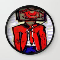 suit Wall Clocks featuring Suit by Keith Cameron