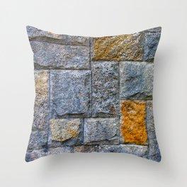 stones-wall Throw Pillow