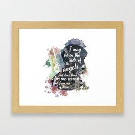 Sherlock Side of the Angels Framed Art Print