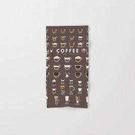 Coffee Chart Hand & Bath Towel