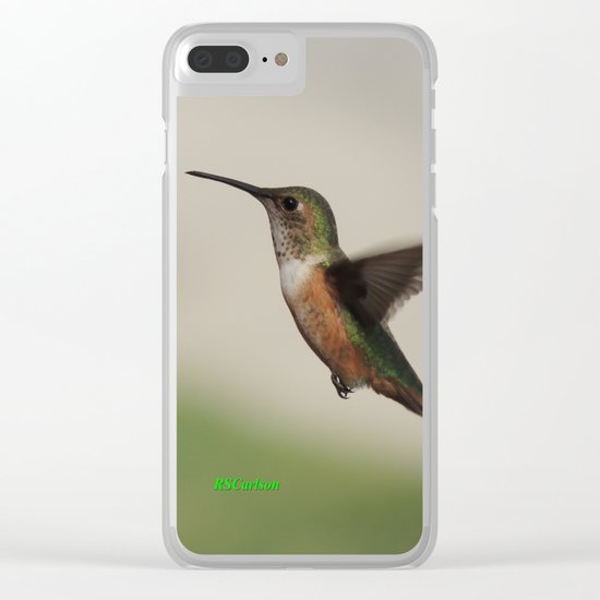 Ms. Hummingbird Checks the Feeder Clear iPhone Case