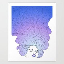 hair no. 2 Art Print