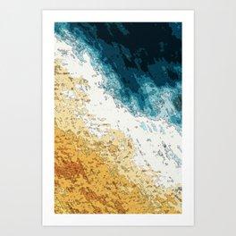 Satellite generative illustration Art Print