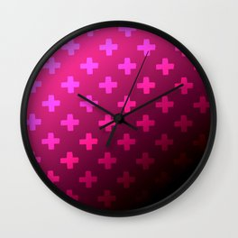 Plum Crazy Wall Clock