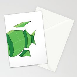 Illustration of a 3D Paper Craft Fish Model Stationery Cards
