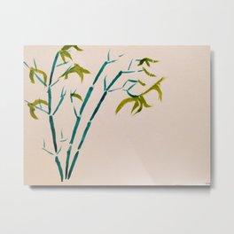 Bamboo - Sumi-e art Metal Print