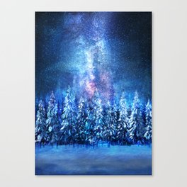 Forest under the Starlight Canvas Print