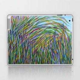Tropical Green Abstract, Seagrass Color Study, Contemporary Colorful Home Decor Laptop & iPad Skin