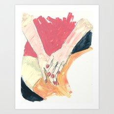 Hands in Oil Art Print
