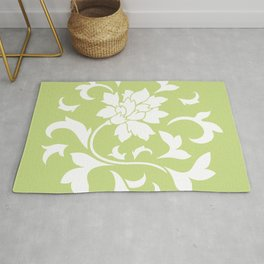 Oriental Flower - Daiquiri Green Circular Pattern Rug