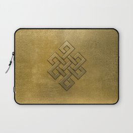 Golden Embossed Endless Knot Laptop Sleeve