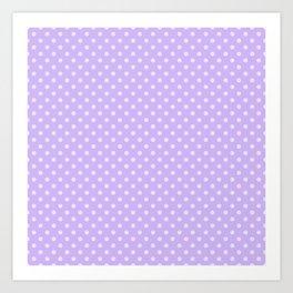 Purple background with polka dot Art Print