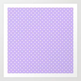 Purple background with polka dot Art Print