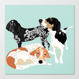 Coonhound Trio Canvas Print