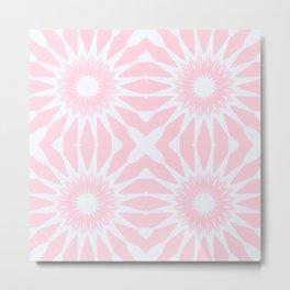 Rose Quartz Pink Pinwheel Flowers Metal Print
