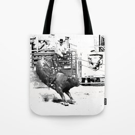 Rodeo Bull Riding Champ Tote Bag