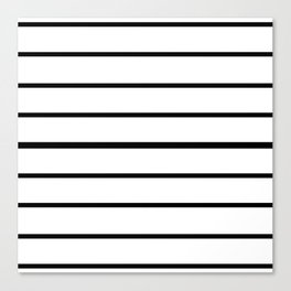 Simple Black and White Lines Decor Canvas Print