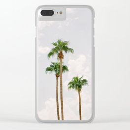 Palm Springs Palm Trees Clear iPhone Case
