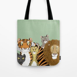Surprised Big Cats Tote Bag