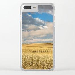 Iowa in November - Golden Corn Field in Autumn Clear iPhone Case