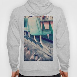 Retro Diner Photograph, kitchen art, restaurant decor, shabby chic, vintage, pastels, mint and pink Hoody