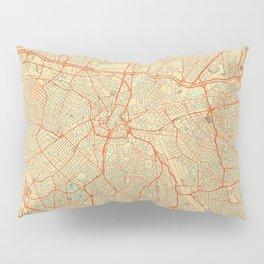 Sao Paulo Map Retro Pillow Sham