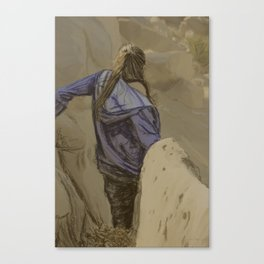 Hiking in the Desert Canvas Print