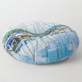 Glen Harbour Marina Floor Pillow