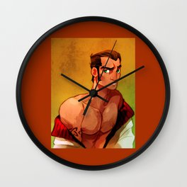 Mike Portrait Wall Clock
